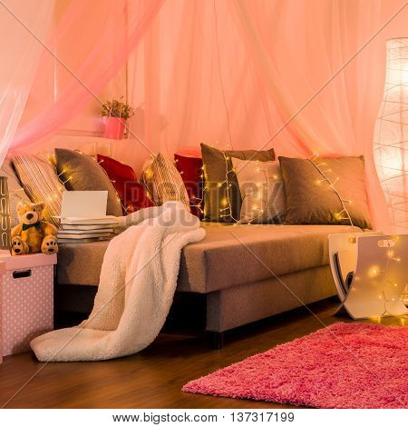 Fairy Lights On The Bed
