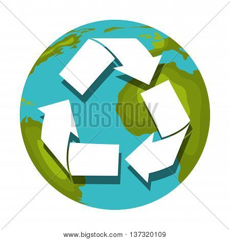 Reuse, reduce, recycle isolated icon, vector illustration graphic.