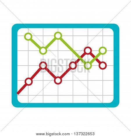 Financial decrease statistics isolated icon graphic design, vector illustration.