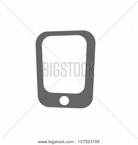 simple flat mobile phone icon. Stock vector illustration