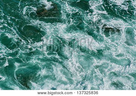 Black Sea on the Rocky Shore