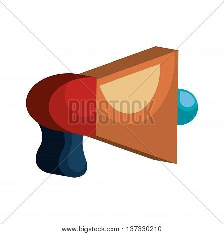 Bullhorn advertising symbol, vector illustration graphic design.