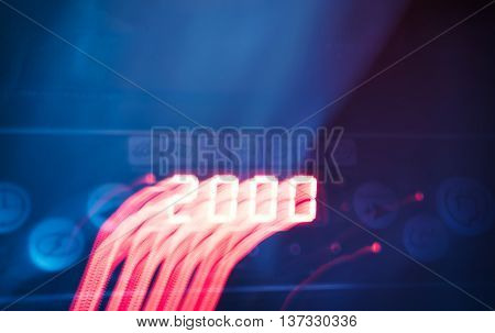 2000 year dark light motion blur abstraction backdrop