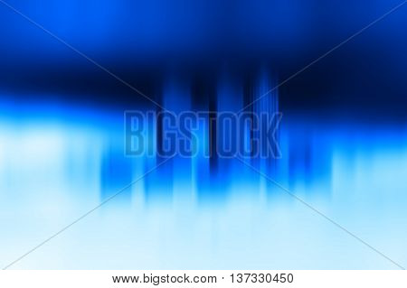 Toy office skyscrapers blue motion blur background