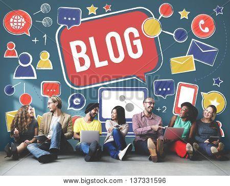 Blog Blogging Social Network Online Internet Concept