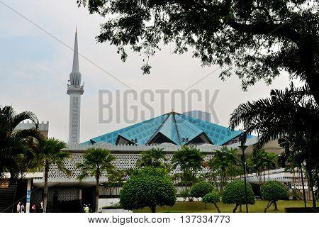 Kuala Lumpur/Malaysia - September 2012: National mosque in Kuala Lumpur, Malaysia.