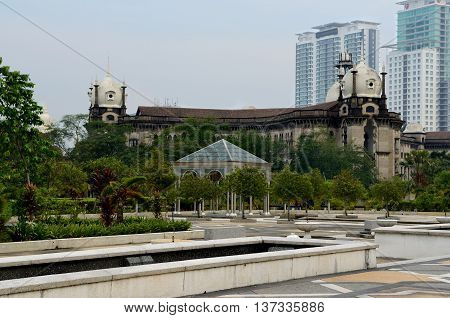 Kuala Lumpur/Malaysia - September 2012: History Railway Station Office In Kuala Lumpur, Malaysia.