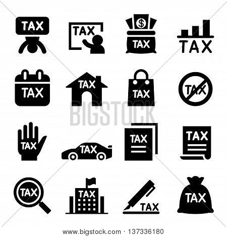 Tax icon set Vector illustration Graphic design