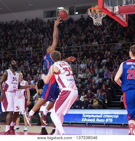 Bc Cska Forward Kyle Hines (42) Does A Layup