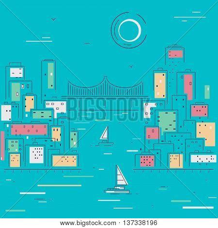 Vector illustration Sketch City eps 8 file format
