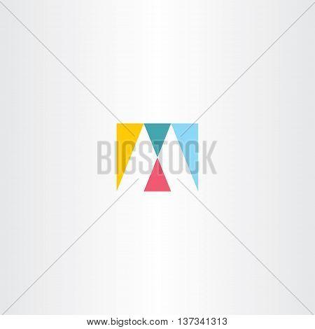 Logo M Letter M Logotype Sign Icon Vector Design