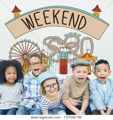 Weekend Enjoy Greeting Sunday Saturday Relax Concept