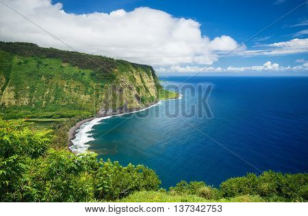 Waipio Valley Lookout view on Big Island Hawaii