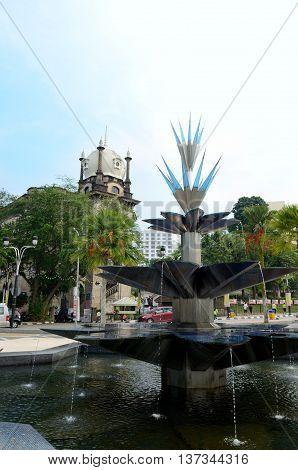 Kuala Lumpur/Malaysia - September 2012: Garden near National Mosque (Masjid Negara) in Kuala Lumpur, Malaysia.