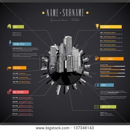 Creative color rich CV / resume template.