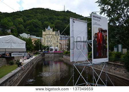 Karlovy Vary, Czech Republic - July 3: People On Streets During Karlovy Vary International Film Fest