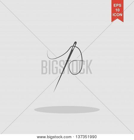 Needle Icon. Flat Design Style.