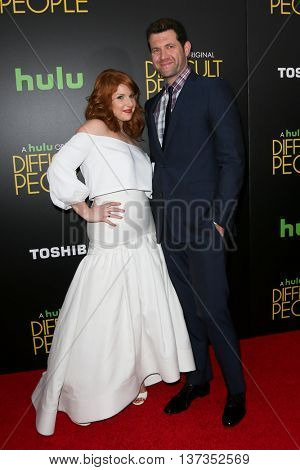 NEW YORK-JUL 30: Actress Julie Klausner (L) and Billy Eichner attend the Hulu Original Premiere of 'Difficult People' at the SVA Theater on July 30, 2015 in New York City.
