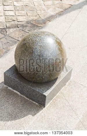 Granite large ball, French street furniture, Paris