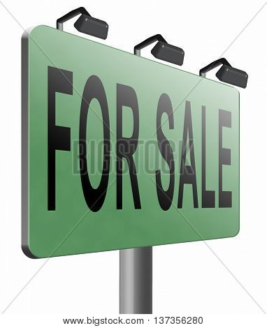 for sale second hand car or house or apartment buying and selling real estate, 3D illustration isolated on white