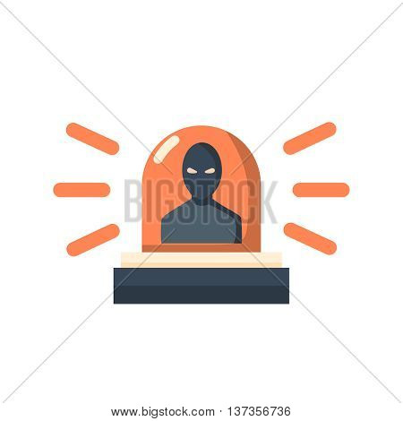 Thief alert vector. Thief alert illustration. Thief alert isolated on white. Thief alert icon. Thief alert flat style. Thief alert silhouette. Thief alert concept
