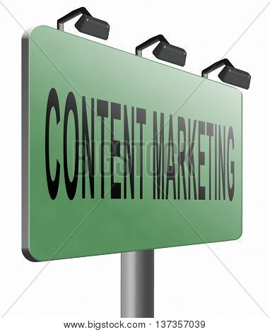 content marketing, a market strategy for advertising and product placement