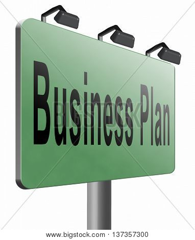 business plan, strategy or goals. Planning and analysis of a market. A vision a concept or an idea. Planning ahead for success.  3D illustration, isolated, on white