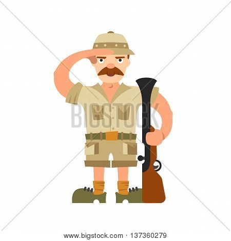 Hunter Illustration On Isolated Background