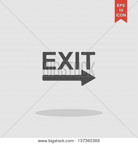 Exit Icon - Vector Illustration