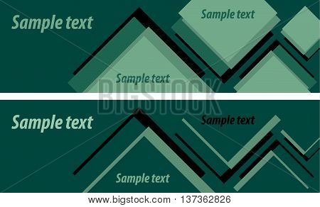 Two abstract background in green tones for bilateral flyers, banners and other dizaynerskiz ideas. Vector graphics.