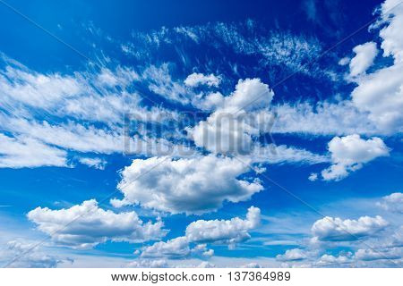 Amazing cloudscape on the sky at midday time.