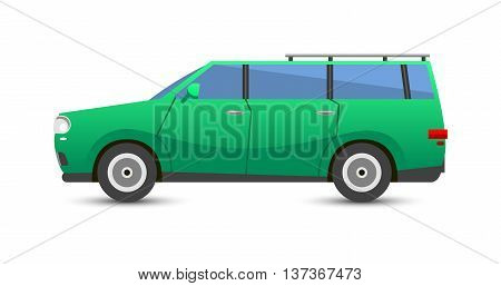 Car vehicle transport type design sign technology style vector. Generic car design flat vector illustration isolated on white. Transport object