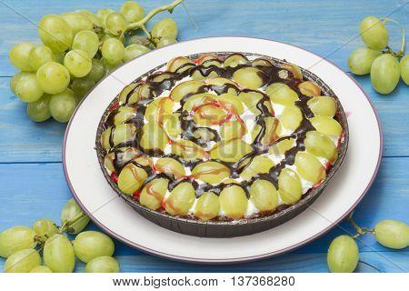 grape pie, grape cake, grape tart homemade