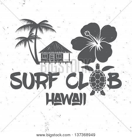 Surf Club Concept. Vector Summer Surfing Retro Badge. Surfing Concept For Shirt Or Logo, Print, Stam