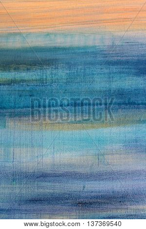 Blue Watercolor on Canvas 7