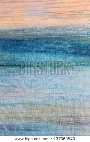Blue Watercolor on Canvas 8