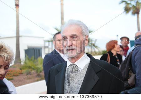 CANNES, FRANCE - MAY 18: Paul Vecchiali attends 'The Unknown Girl (La Fille Inconnue)' Premiere during the 69th annual Cannes Festival at the Palais des Festivals on May 18, 2016 in Cannes, France.