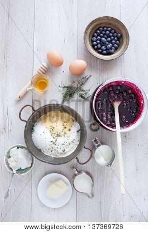 American Pancakes Ingredients