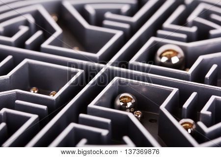 Close Up Of A Grey Labyrinth Or Maze