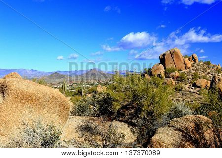 Pinnacle Peak Arizona Scottsdale cactus hiking summit view