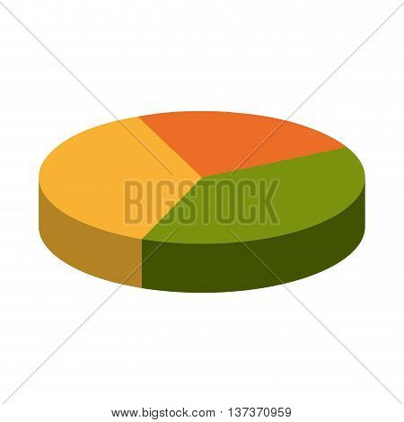 Statistic colorful pie graphic, isolated flat icon design.