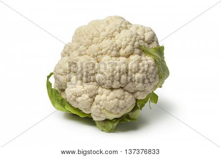 Fresh white raw whole cauliflower