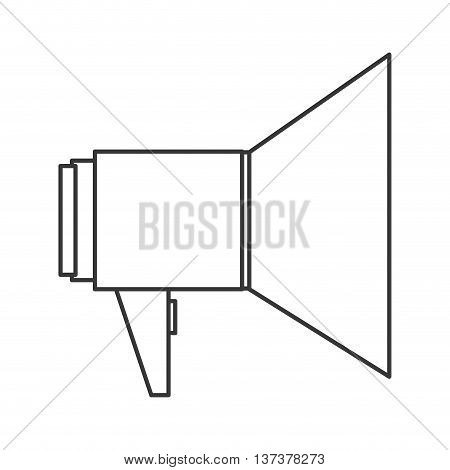 simple line design single megaphone icon vector illustration