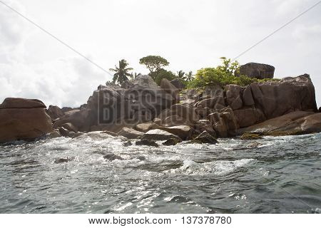 Tropical island of St. Pierre  at Seychelles