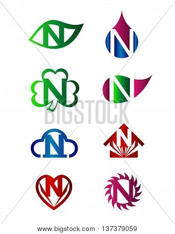 Letter N Logo Icon template design vector