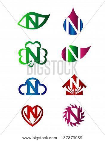 Letter N Logo Icon template design vector