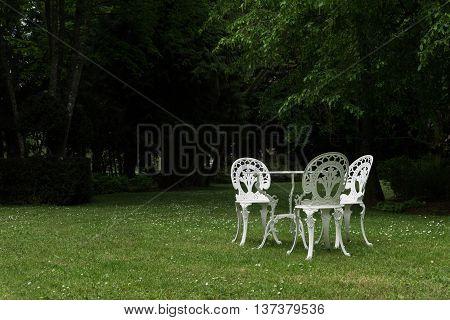 White Garden Furniture Outdoors