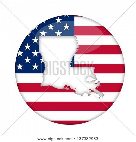 Louisiana state of America badge isolated on a white background.
