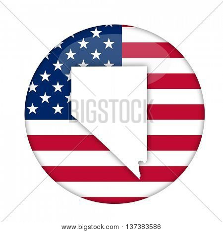 Nevada state of America badge isolated on a white background.