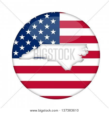 North Carolina state of America badge isolated on a white background.